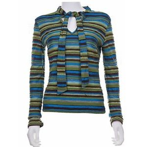 Missoni Blue and Green Striped top Size S
